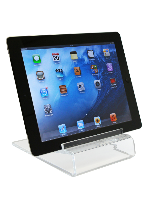 Acrylic stand for iPad, Tablet and LEDlite