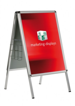 A-Board Classic with brochure cage