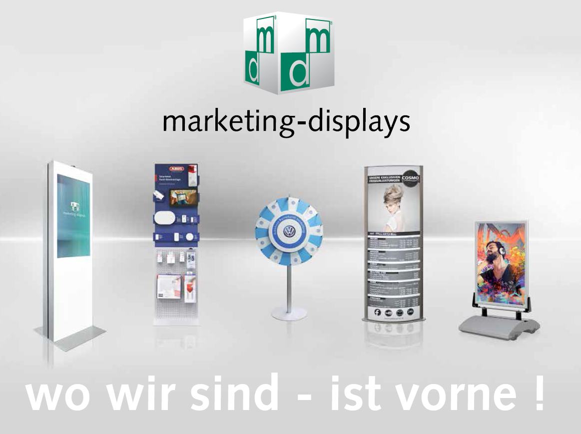 Firmenpräsentation marketing-displays